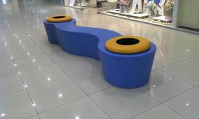 скамья для оформления торгового центра