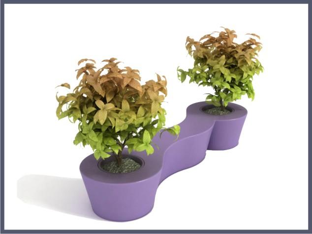 Скамья-цветочница